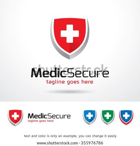 Medical Secure Logo Template Design Vector