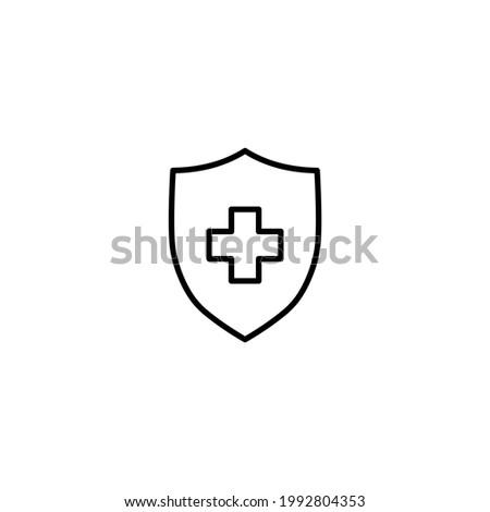 Medical Shield icon. Vector illustration for graphic design, Web, UI, app.