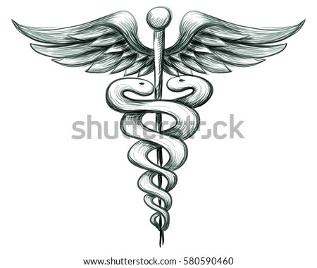 Medical Sign. Hand drawn vector illustration.