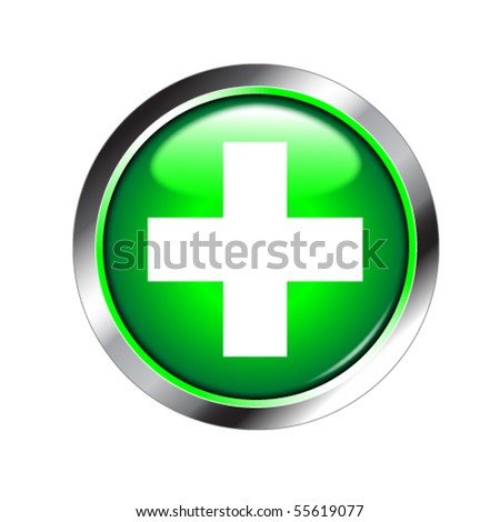 medical sign shiny button