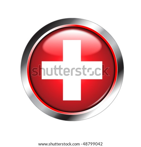 medical sign shiny button (more buttons in portfolio)
