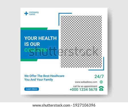Medical Social Media Post. Healthcare Social Media Post Template.