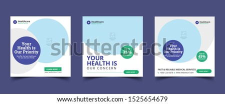 Medical Social Media Post Template, Editable Healthcare Social Media Banner Template
