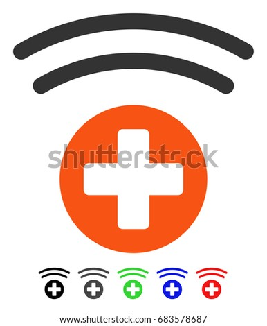 Medical Source flat vector pictogram with colored versions. Color medical source icon variants with black, gray, green, blue, red.