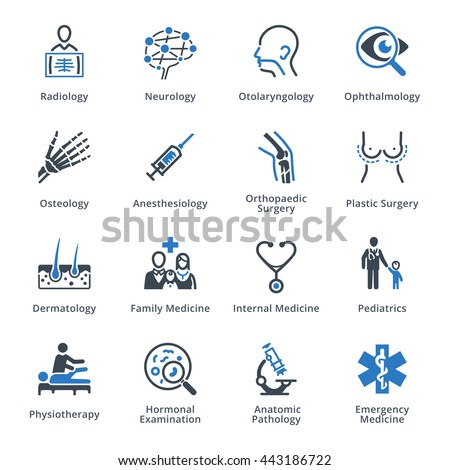 Medical Specialties Set 3 - Blue Series