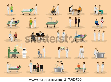 medical staff and patients