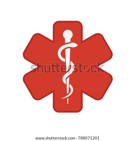 medical symbol - caduceus icon - health sign #788071201