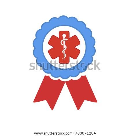 medical symbol - caduceus icon - health sign