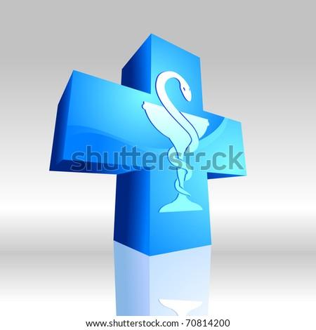 Medical symbol 3D 1