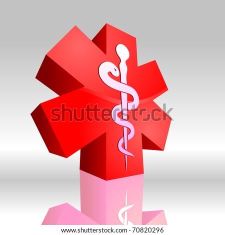 Medical symbol 3D 2