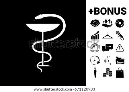 Medical symbol medical snake and cup