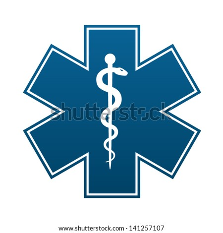 medical symbol of the emergency