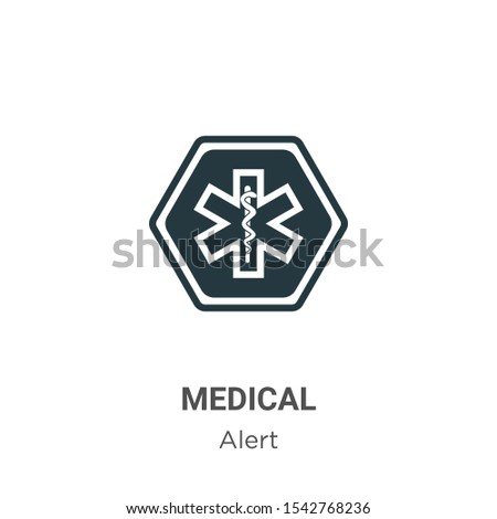 Medical symbol vector icon on white background. Flat vector medical symbol icon symbol sign from modern alert collection for mobile concept and web apps design.