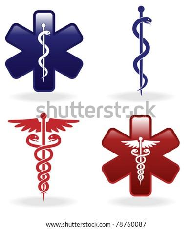 Medical symbols set (vector illustration)
