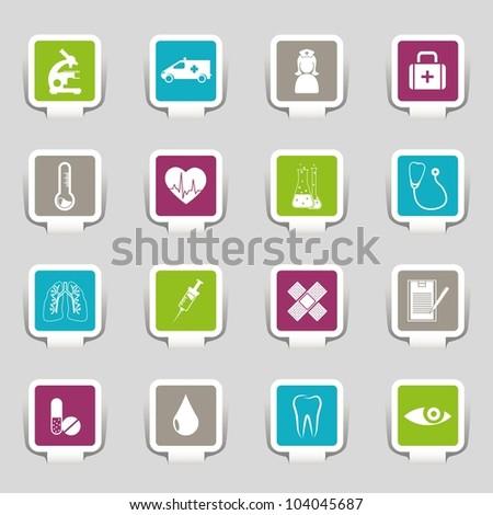 Medical symbols, tools, and medicine