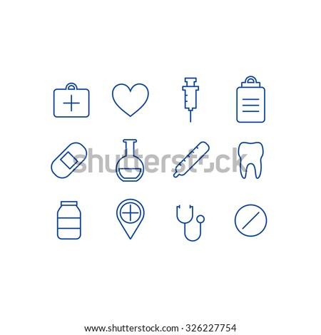 Medical symbols. Vector illustration