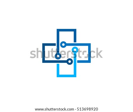 Medical Tech Logo Design Template Element ストックフォト ©