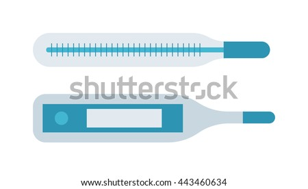Medical thermometer isolated on white background temperature measurement equipment vector