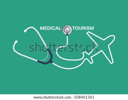 medical tourism vector background