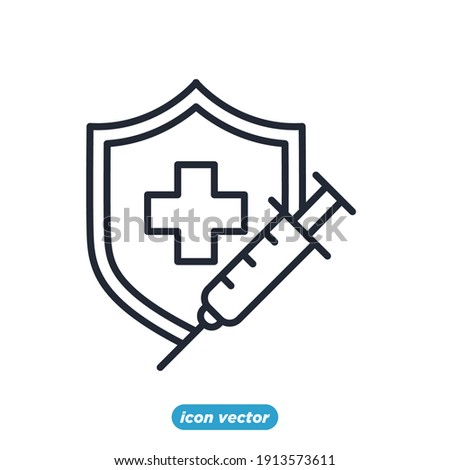 Medical Vaccine icon. Medical Syringe symbol template for graphic and web design collection logo vector illustration