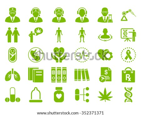 medical vector icon set style