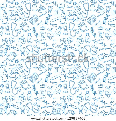 Medical vectors seamless pattern
