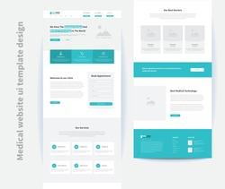 medical website ui template design