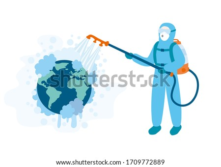 medical worker in a blue