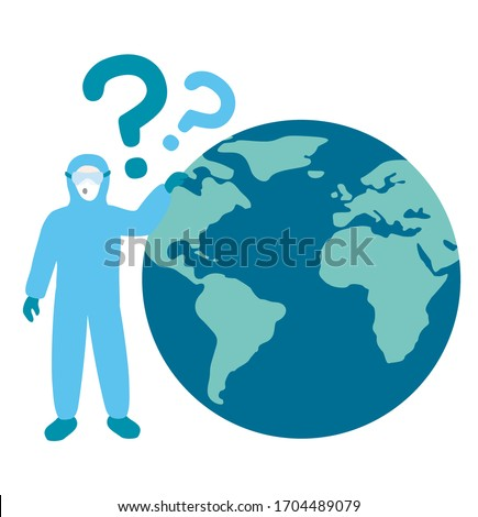 medical worker wearing blue