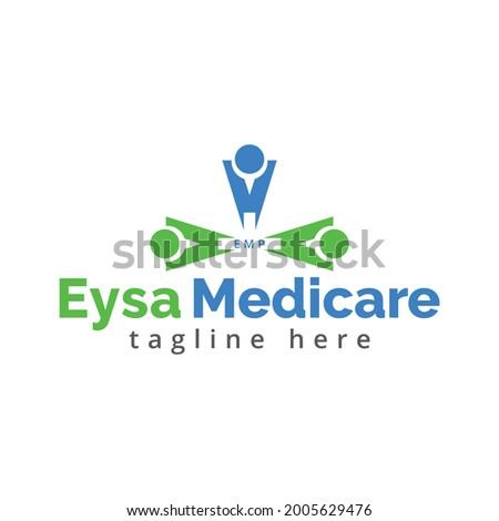 Medicare vector logo design template
