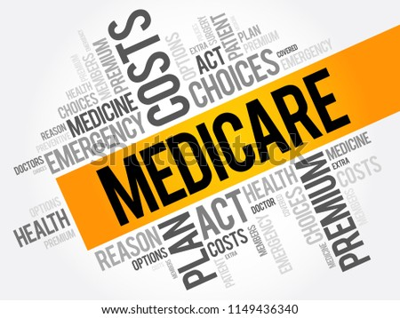 Medicare word cloud collage, health concept background #1149436340