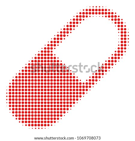 medication granule halftone