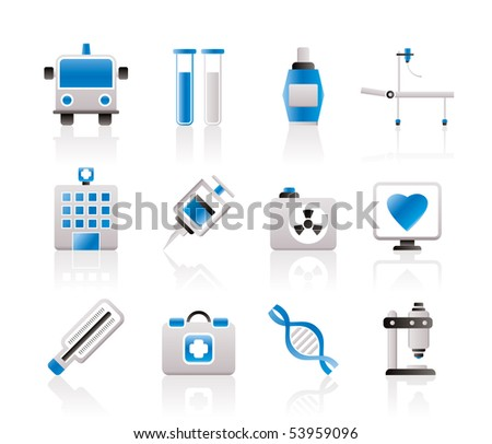 Medicine and healtcare icons - vector icon set