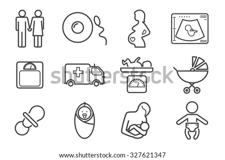 medicine and pregnancy vector