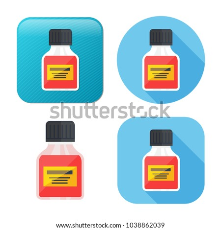 medicine bottle icon - medicine pill - pharmacy drug - health care icon
