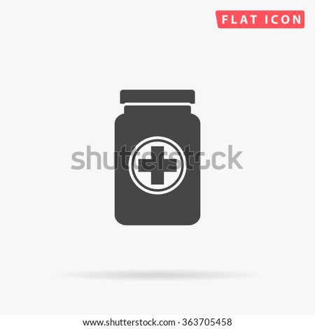Medicine bottle Icon Vector.