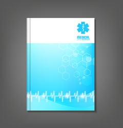 Medicine brochure template / flyer design suitable for healthcare topics.