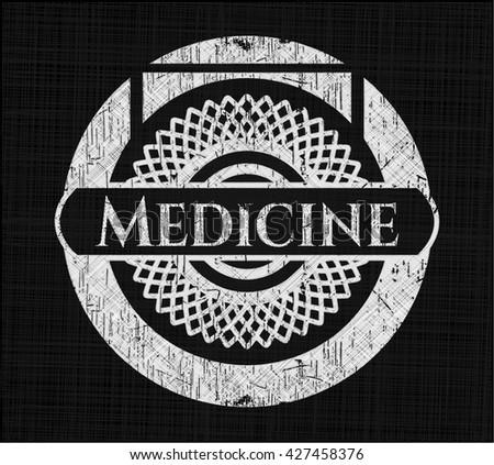 Medicine chalkboard emblem