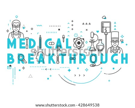 Medicine concept breakthrough. Creative design elements for websites, mobile apps and printed materials.