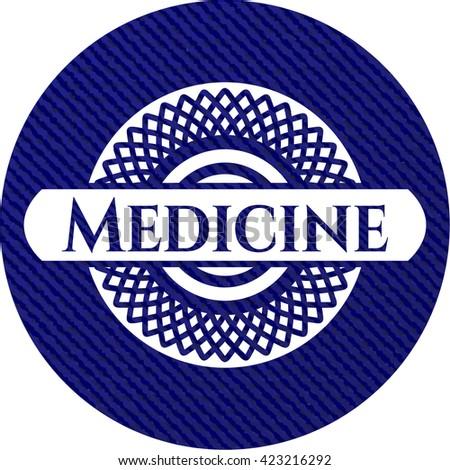 Medicine emblem with jean high quality background