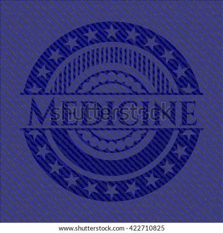 Medicine emblem with jean texture