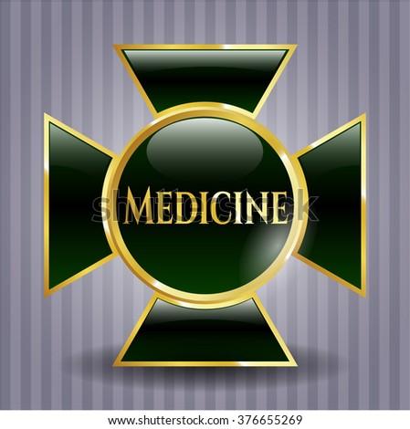 Medicine gold shiny emblem