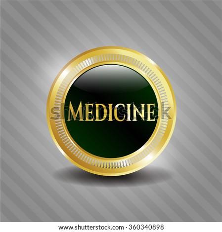Medicine golden emblem