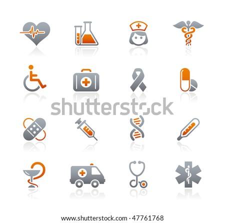 Medicine & Heath Care Web Icons  // Graphite Series