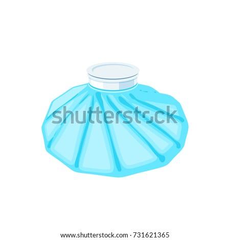 Medicine ice bag. Vector illustration cartoon flat icon isolated on white. Stock photo ©