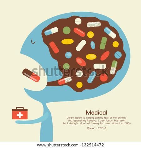 Medicine icon, vector