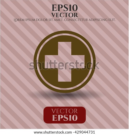 medicine icon vector symbol flat eps jpg app web concept website