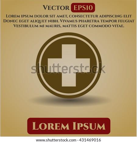 medicine icon vector symbol flat eps jpg app web concept website