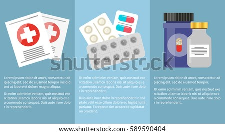 medicine icons collection with