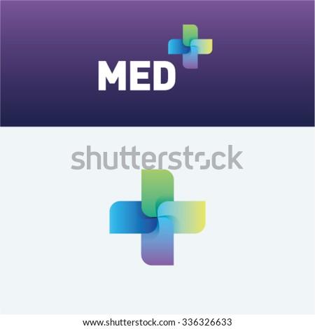 Medicine idea logo vector logo template